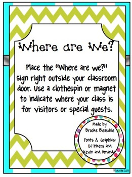 """Where are we?"" Sign"
