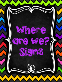 Where are we? Signs
