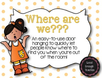 Where are we? {a door-hanging for when you're out of your room}