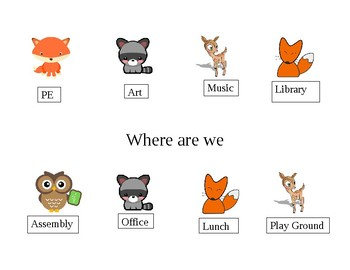 Where are we forest animal door sign