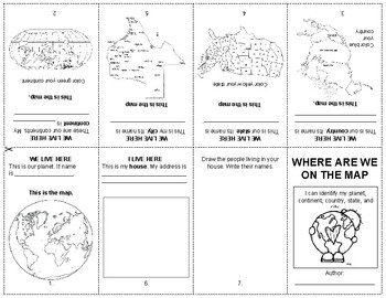 Where are we on the map - Foldable Booklet