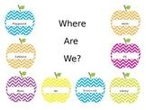 Where are we sign-Editable Chevron Apples