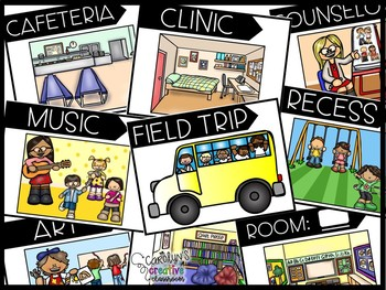Where are you? Where are we? Posters - Classroom Management Tool - Tracking