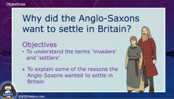 Why did the Anglo-Saxons want to settle in Britain? (Lesson)