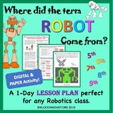 History of Robots - Substitute Robotics Lesson Plan