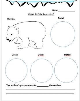 Where do Polar Bears Live? Journeys Exemplar: Main Idea Differentiated Activity