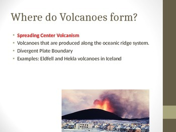 Where do Volcanoes form?