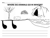 Where do animals go in winter: discussion, game, cut & paste application
