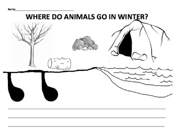Where do animals go in winter: discussion, game, cut & paste ...