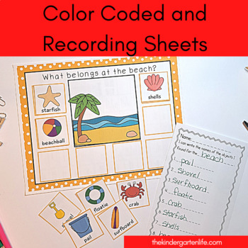Where do they go?  A vocabulary building and object sorting unit