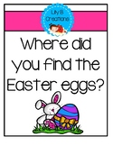 Positional Word Book - Where did you find the Easter eggs?