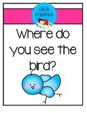 Where do you see the bird?
