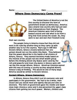 Where does American Democracy come from?