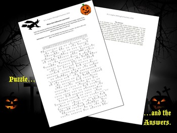 Where does Halloween come from? History Cryptogram Puzzle