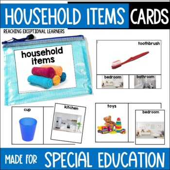 Where does it belong? Household Items Task Card Set
