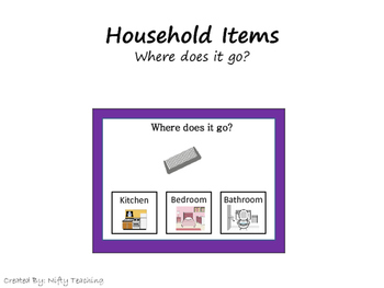 Where does it go? Household Items