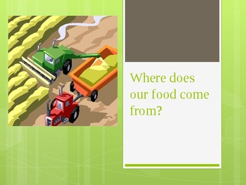 Where does our food come from PowerPoint