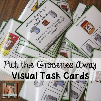 Where does the food go? Life Skill Task Cards (Special Ed