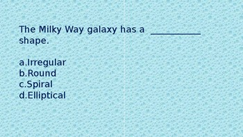 Where in the Milky Way are we? science power point