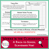 Where in the Room is... Classroom Scavenger Hunt (Editable)