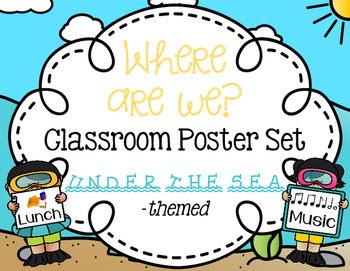 Where Are We? Under the Sea Classroom Poster Set