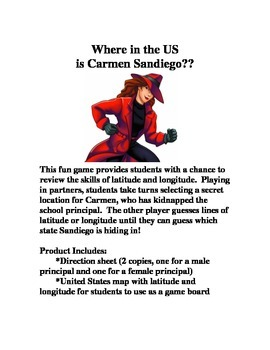 Where in the United States is Carmen Sandiego: A Latitude