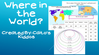 Where in the World? Fantastic booklet of continent activities!