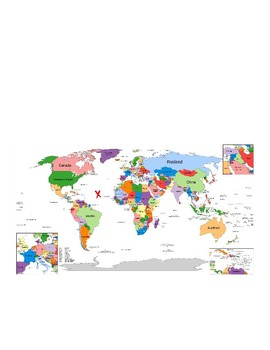 Where in the World- A Reading and Writing Map Activity