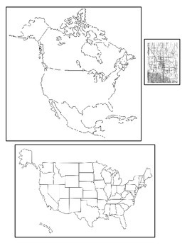 Where in the World Am I?  A Multi-Fold Book to Practice Map Skills (USA Version)