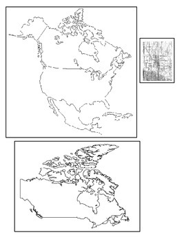 Where in the World Am I?  A Multi-Fold Book to Practice Map Skills (Canada )