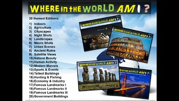 Where in the World Am I? Fun Geography/Culture Game - ALL 20 EDITIONS BUNDLE