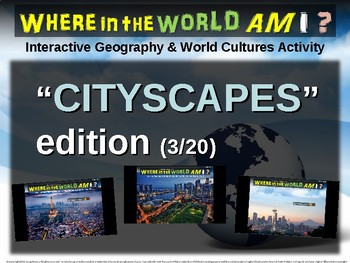 """Where in the World Am I? Fun Geography/Culture Game - """"CITYSCAPES"""" (3/20)"""