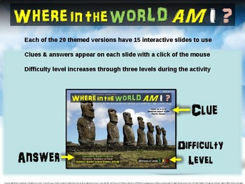 """Where in the World Am I? Fun Geography/Culture Game """"FAMOUS LANDMARKS I"""" (17/20)"""