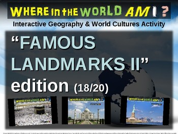 Where in the World Am I? Fun Geography/Culture Game FAMOUS LANDMARKS II (18/20)
