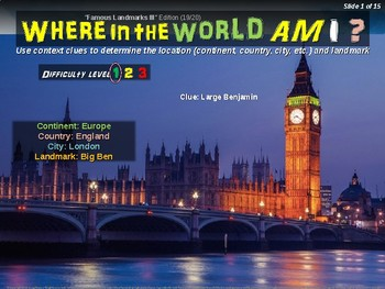 Where in the World Am I? Fun Geography/Culture Game FAMOUS LANDMARKS III (19/20)