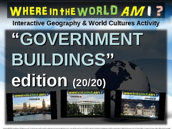 Where in the World Am I? Fun Geography/Culture Game GOVERNMENT BUILDINGS (20/20)