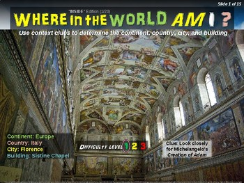 """Where in the World Am I? Fun Geography/Culture Game - """"INDOORS"""" (1/20)"""
