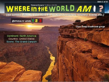 """Where in the World Am I? Fun Geography/Culture Game - """"NATURAL BEAUTY"""" (10/20)"""