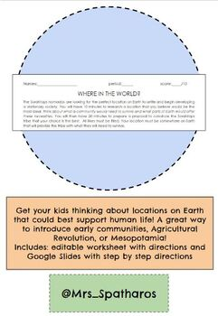 Where in the World? Full Lesson Plan