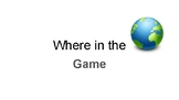 Where in the World Intro Geography Game