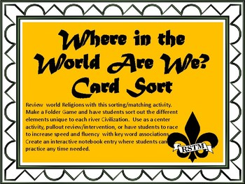 Where in the World are We? Card Sort and Interactive Notebook Activity