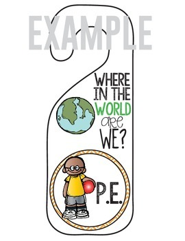 Where in the World are We?  Door Hanger (Where Are We?)