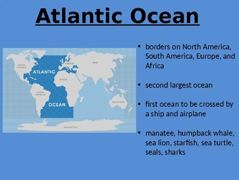 Where in the World are the Oceans?