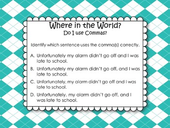 Where in the World do I use Commas?