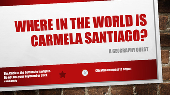 Where in the World is Carmela Santiago?  Adventure Eight