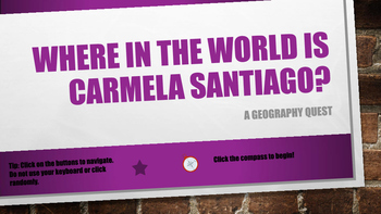 Where in the World is Carmela Santiago?  Adventure Five