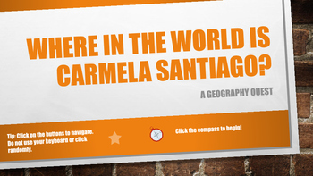 Where in the World is Carmela Santiago?  Adventure Nine