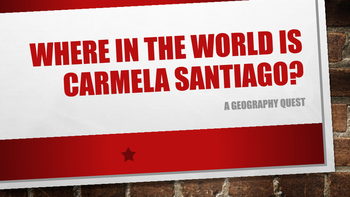 Where in the World is Carmela Santiago?  Adventure One