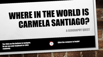 Where in the World is Carmela Santiago?  Adventure Six