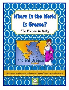 Where in the World is Greece File Folder Activity